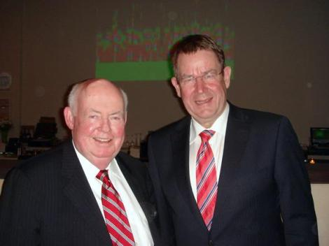 PES delegation to the US, April 2007 / Poul Rasmussen with President John J. Sweeney of the AFL-CIO's (America's Union Movement) 13 million members