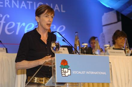 Carol Browner At Socialist International XXIII Congress International for Global Solidarity