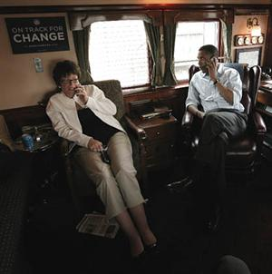 Valerie Jarrett and Obama