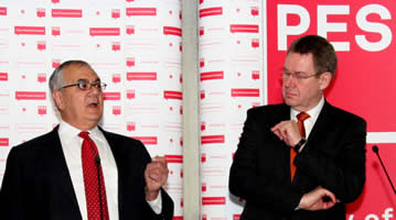Rep. Barney Frank with President of the Party of European Socialists