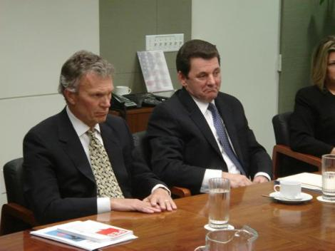 Tom Daschle meeting with Party of European Socialists (look at booklet on table next to him)