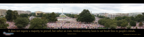 Panoramic view of 9-12-09 March on Washington,D.C.