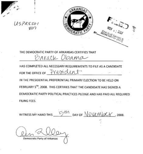 Arkansas Eligibility Filing Obama