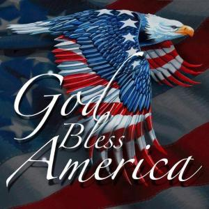 Eagle God bless America