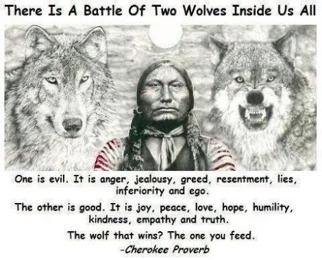 cherokee proverb wolves