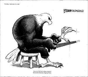 Eagle sharpening talons