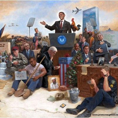 McNaughton art Obama no jobs
