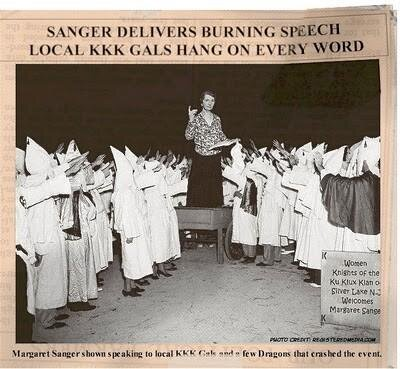 Sanger speech to KKK