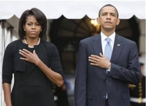 Obama's bad pledge--left hands right chest