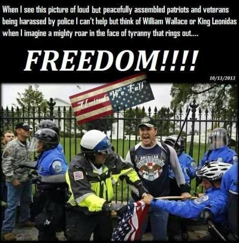 Police vet flag