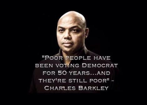 charles barkley poor ppl still vote democrat