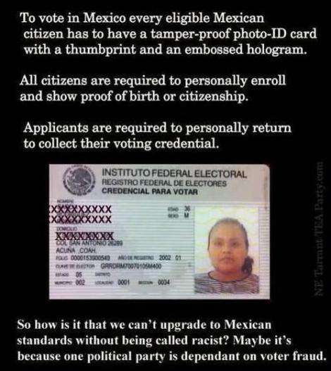 Mexican voter ID requirements