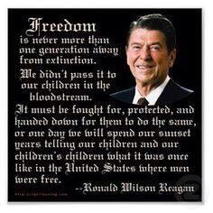 Reagan protecting freedom